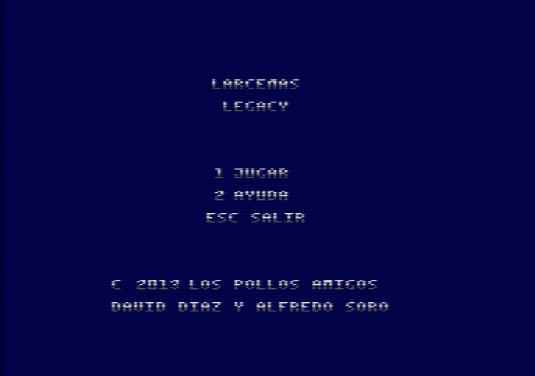 Lárcenas Legacy - Menú Principal