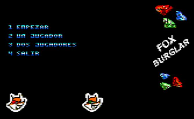 Fox Burglar: Menú de opciones