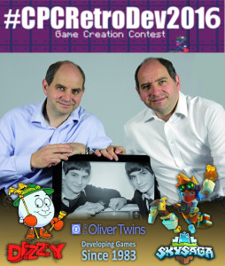 Philip and Andrew Oliver, The Oliver Twins, old and new, with their games Dizzy and Sky Saga